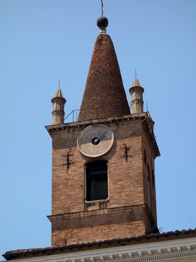 Klocka torn, Santa Maria del Popolo Church, Rome arkivbild