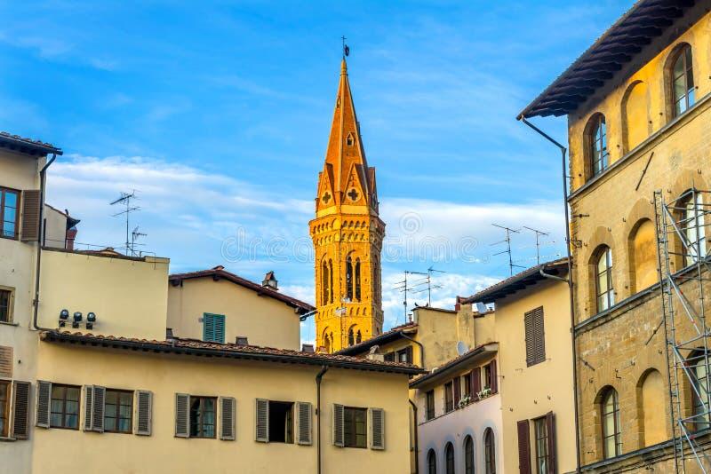 Klocka torn Santa Maria della Novella Church Florence Italy royaltyfri fotografi