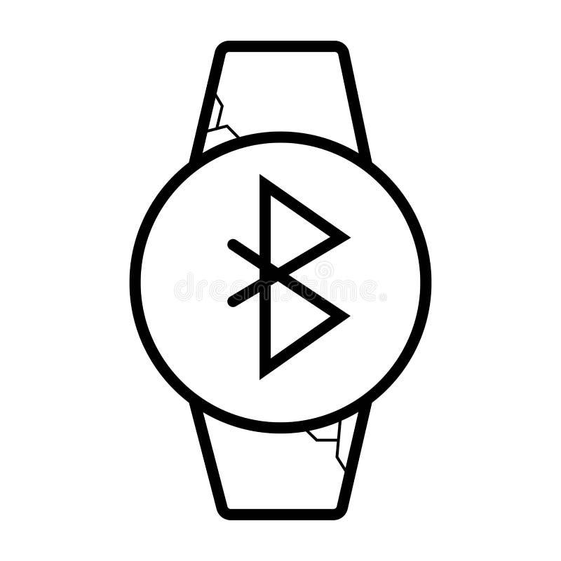 KlockaBluetooth grej vektor illustrationer