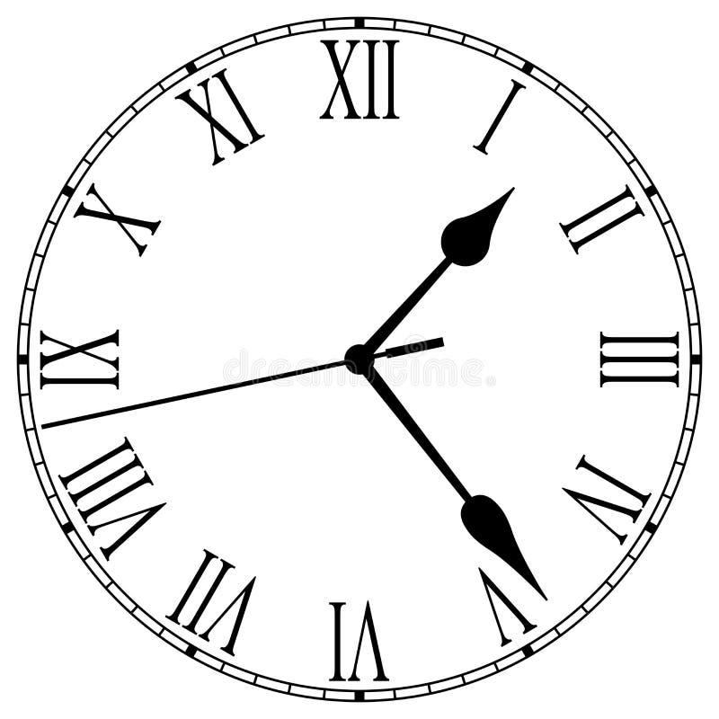 klockaframsida royaltyfri illustrationer