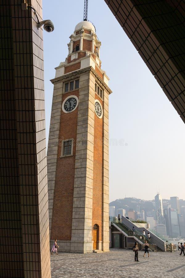klockaHong Kong torn royaltyfri bild