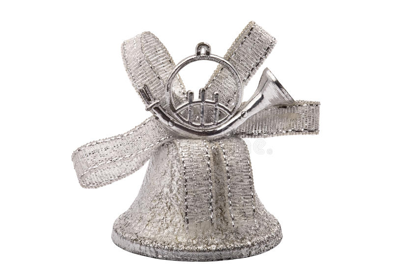 klockajulen hand silver royaltyfria bilder
