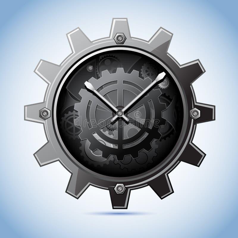 klockakugghjul royaltyfri illustrationer