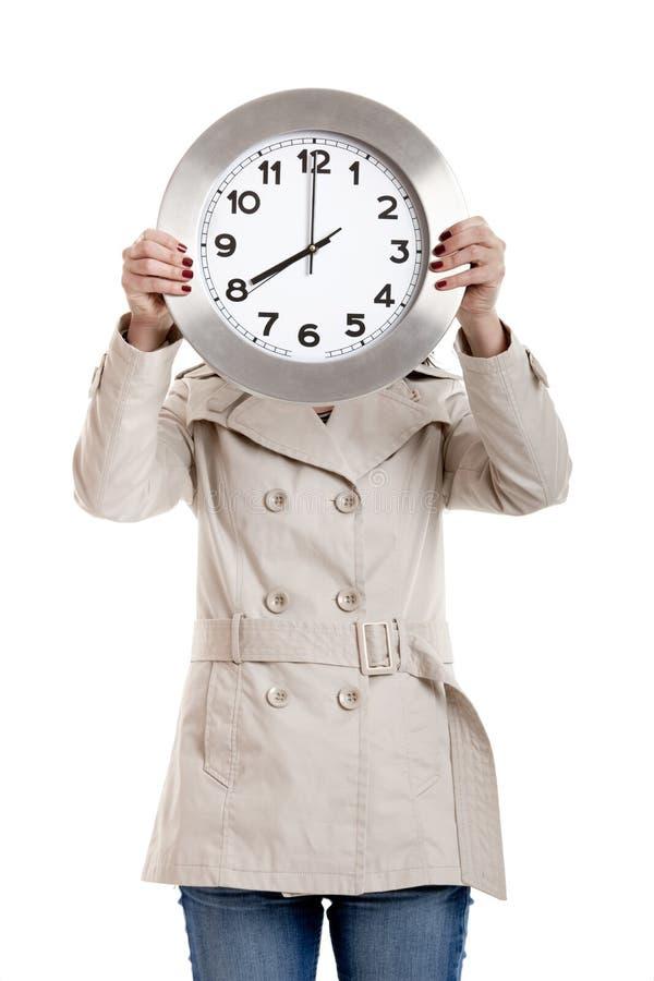 klockakvinna arkivbilder