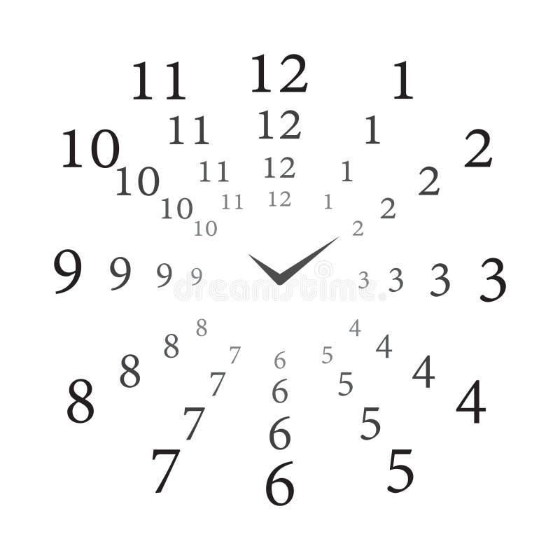Klockalång tid stock illustrationer