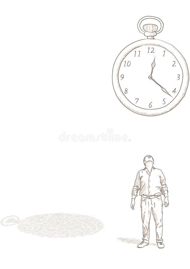 klockaman stock illustrationer