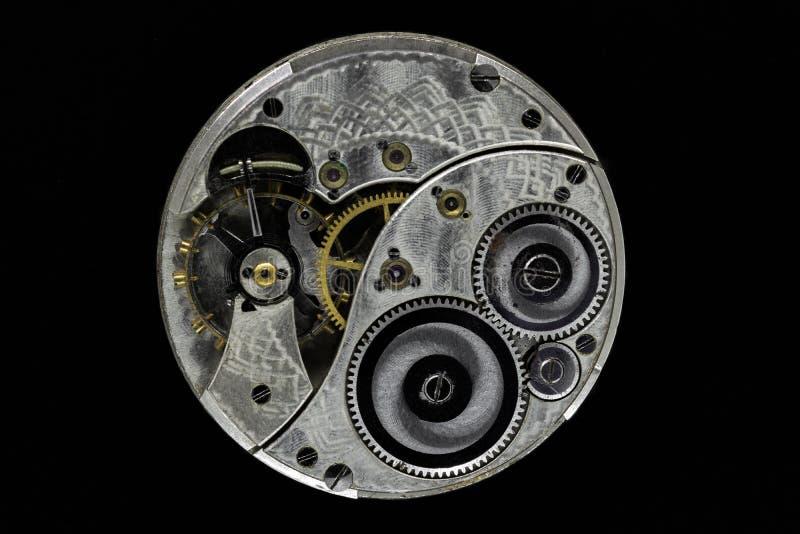 Klockamekanism för gammal hand fotografering för bildbyråer