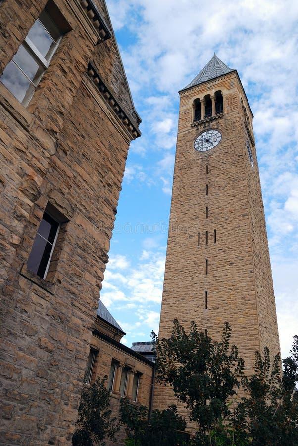 klockan chimes den cornell tornuniversitetar arkivbilder