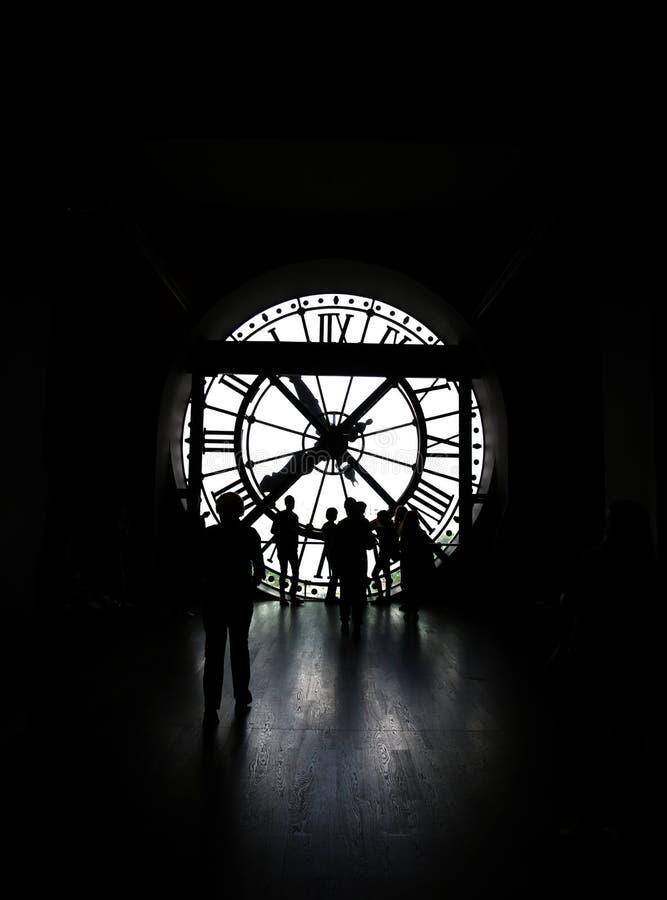 KlockaOrsay museum Paris royaltyfri bild