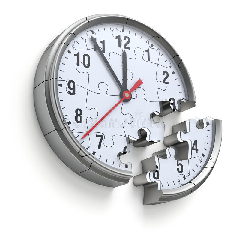 Klockapusselbegrepp vektor illustrationer