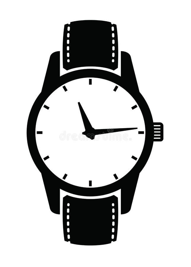 Klockasymboler vektor illustrationer