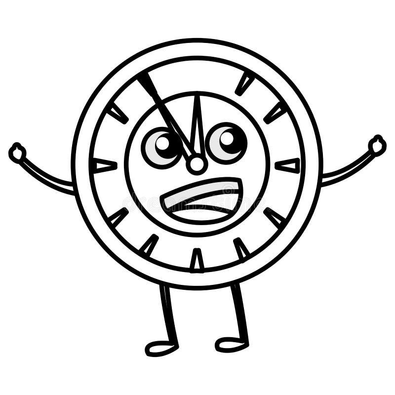 Klockasymbolsbild vektor illustrationer