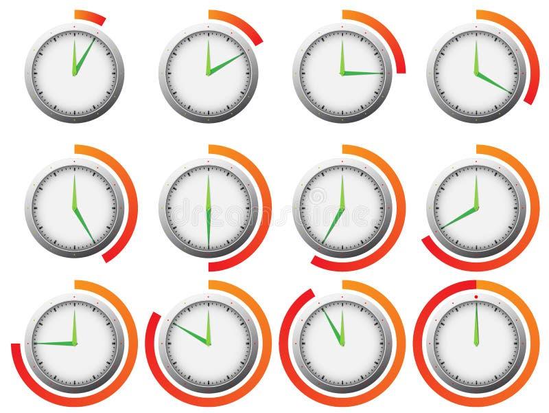 klockatidmätare stock illustrationer