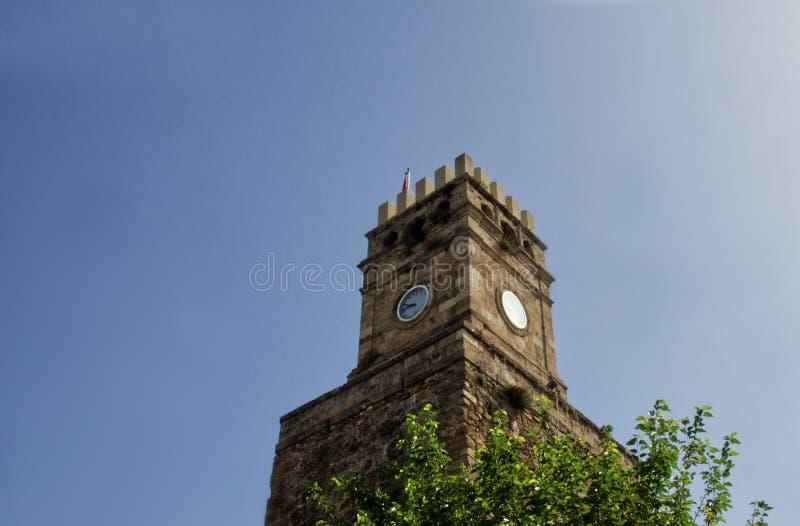 Klockatorn Antalya arkivbilder