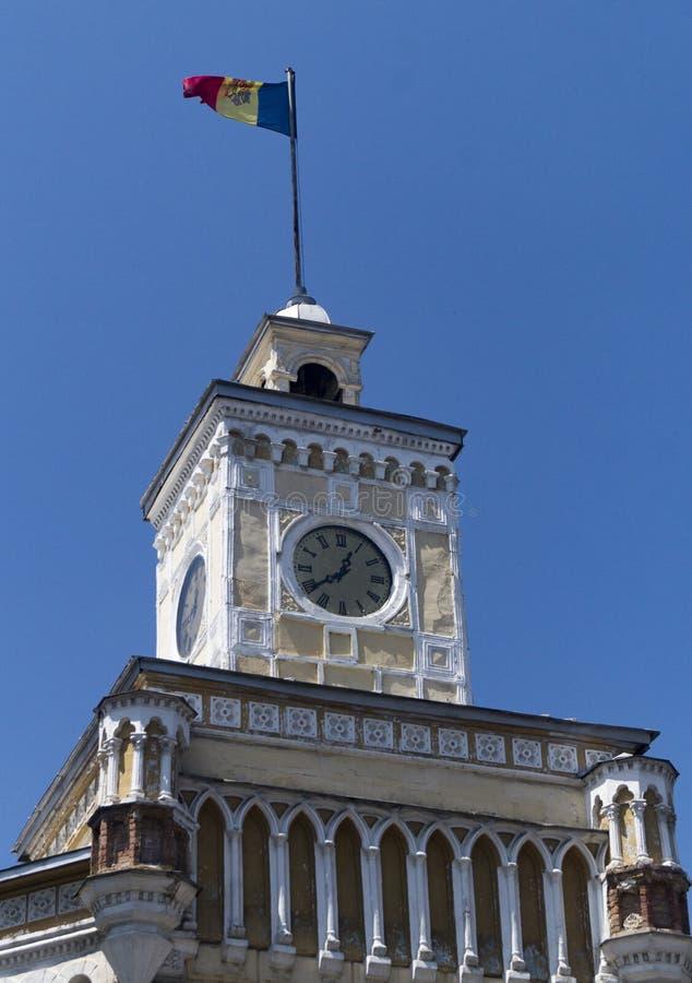 Klockatorn chisinau royaltyfri bild