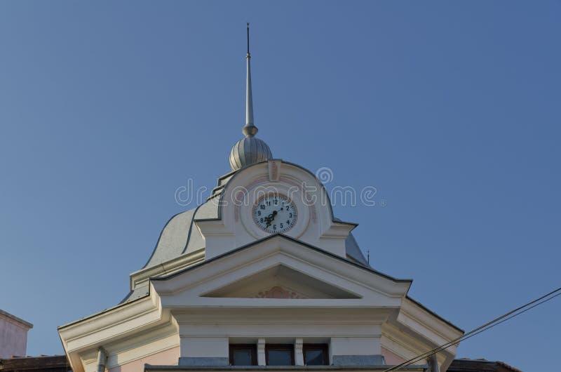 Klockatorn i Belogradchik, Bulgarien fotografering för bildbyråer