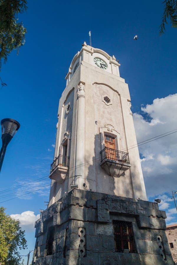 Klockatorn i den Alta Gracia byn arkivfoton