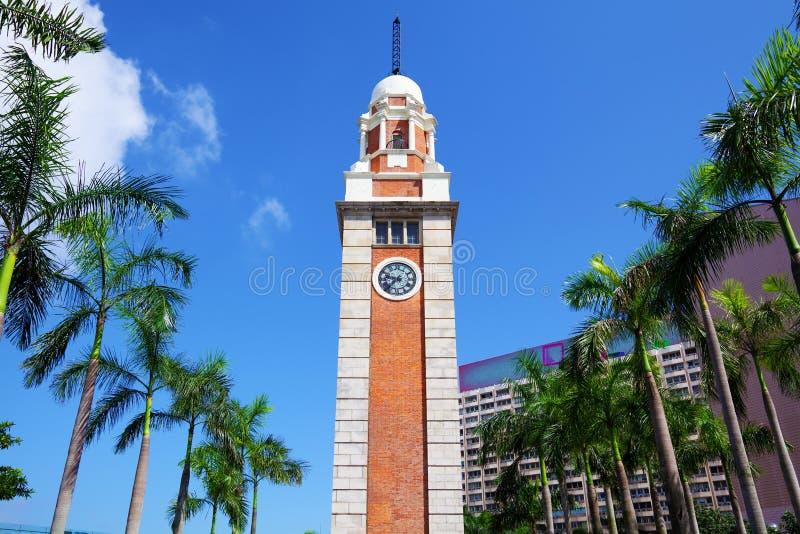 Klockatorn i Hong Kong royaltyfria foton