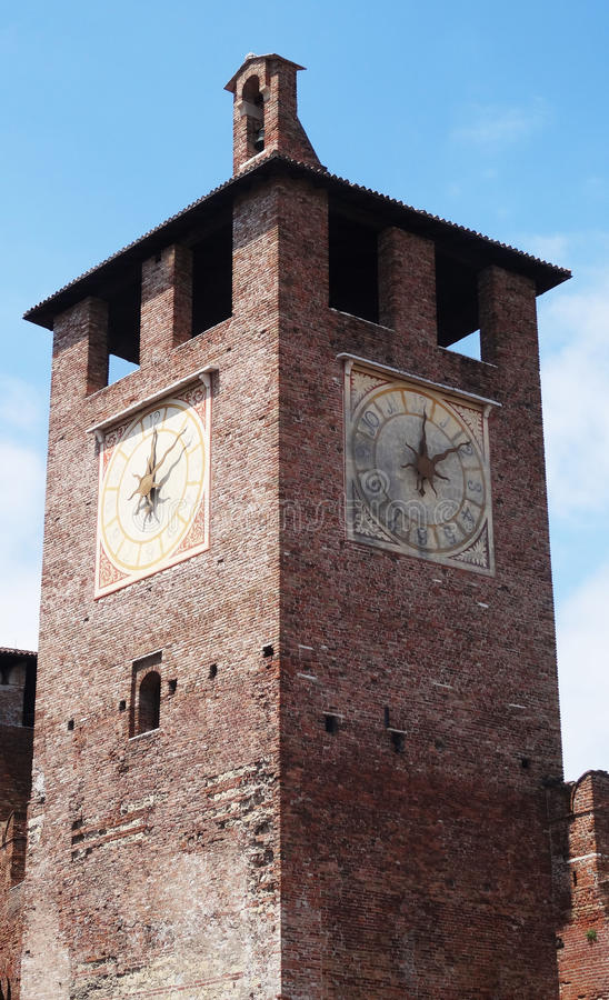 Klockatorn, Verona royaltyfria foton