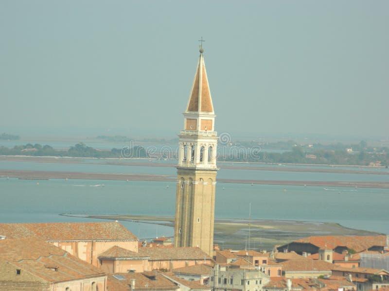klockatornet av Venedig Italien arkivfoton
