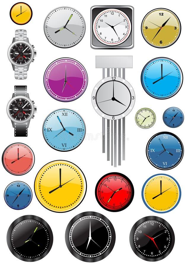 klockavektor vektor illustrationer