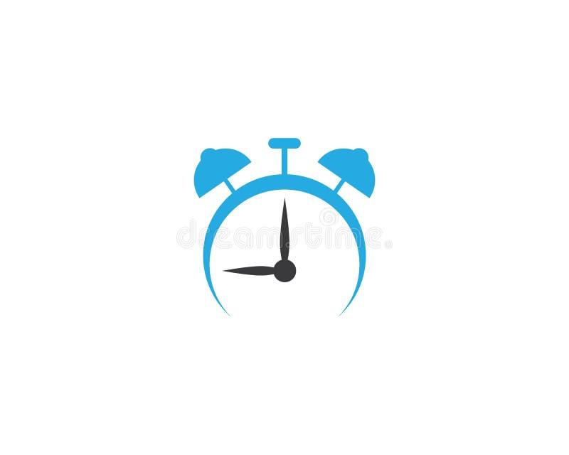 Klockavektorsymbol royaltyfri illustrationer