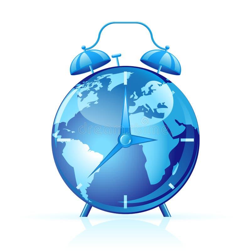 klockavektorvärld stock illustrationer