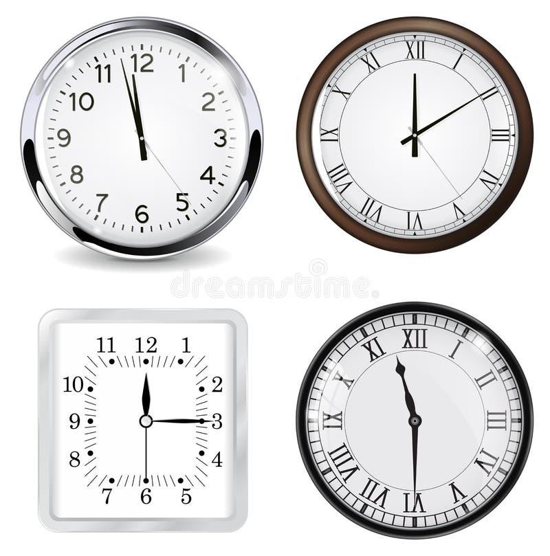 klockor vektor illustrationer
