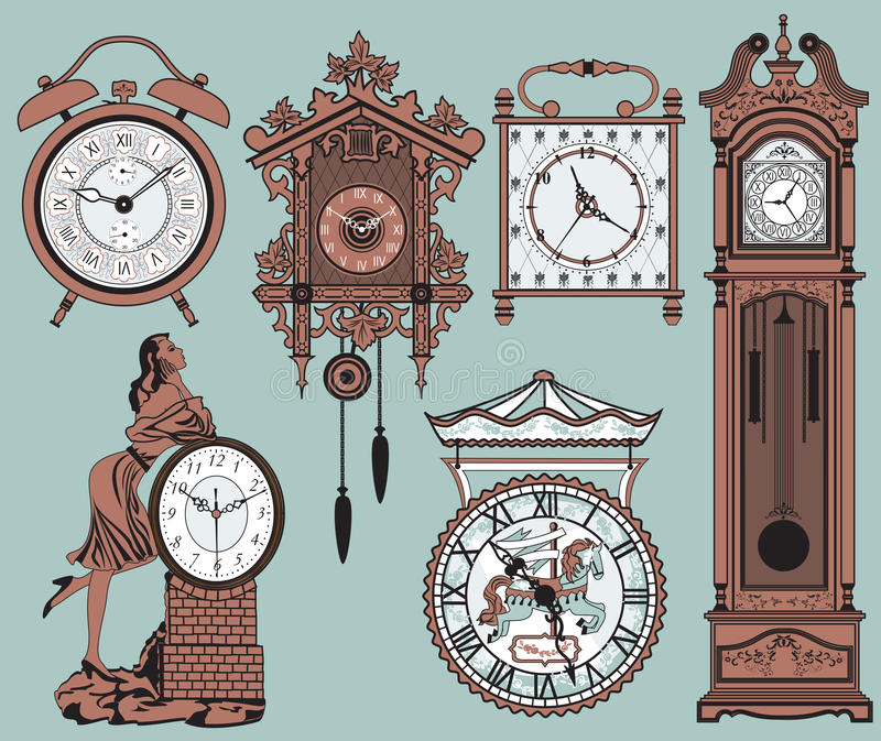 klockor royaltyfri illustrationer