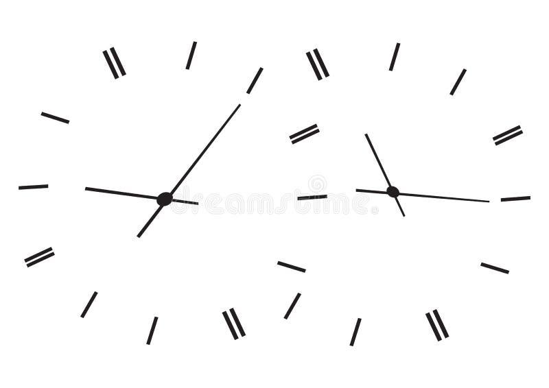 klockor som visar tid royaltyfri illustrationer