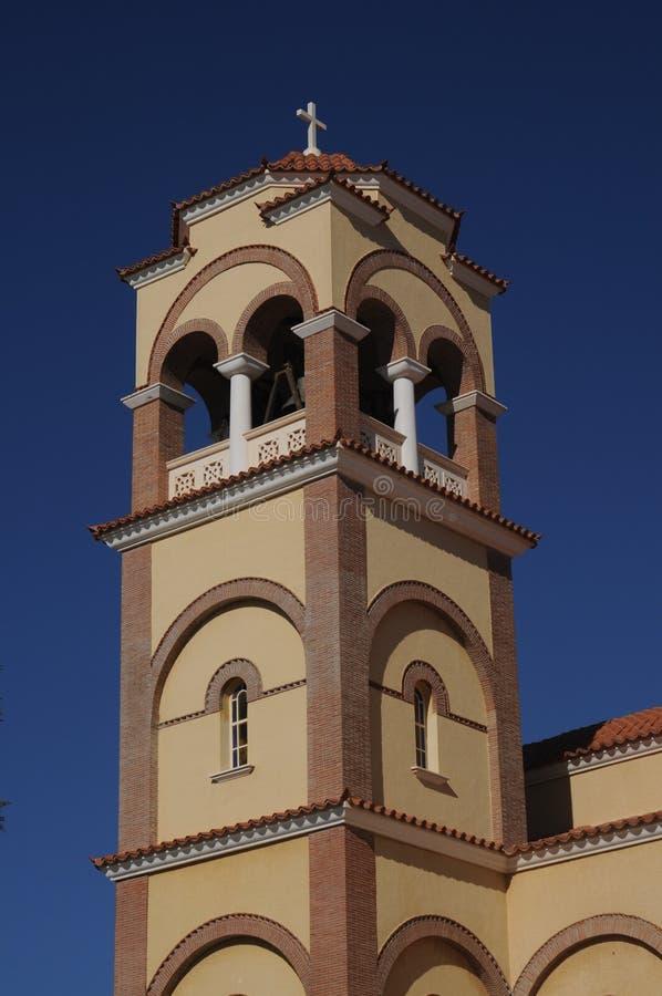 Klockstapel av en kyrka royaltyfri fotografi
