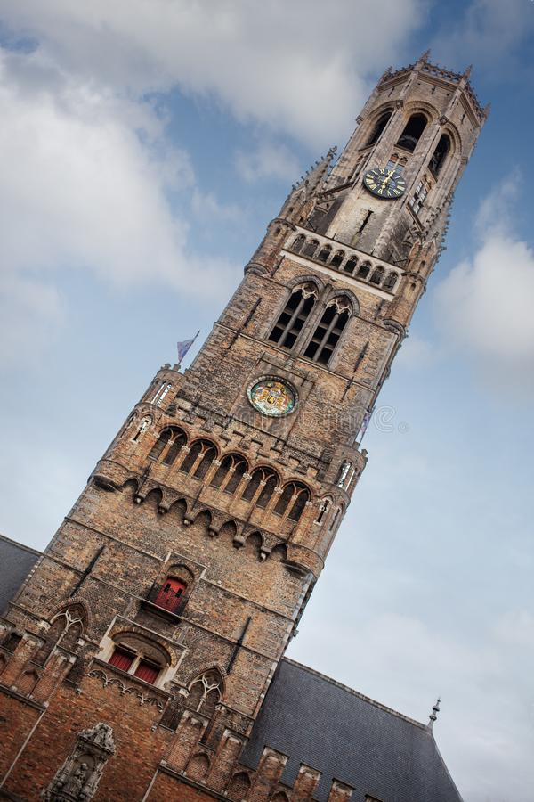 Klockstapeltornet av Bruges royaltyfri bild