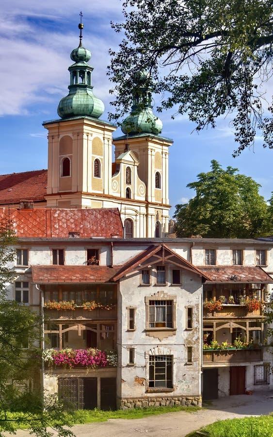 Klodzko στην Πολωνία - πόλης σύνολο των μνημείων στοκ εικόνα