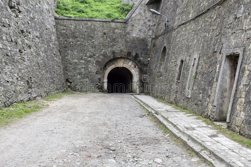 Klodzko Fortress - one of the biggest strongholds. The interior of the historic fortress royalty free stock images