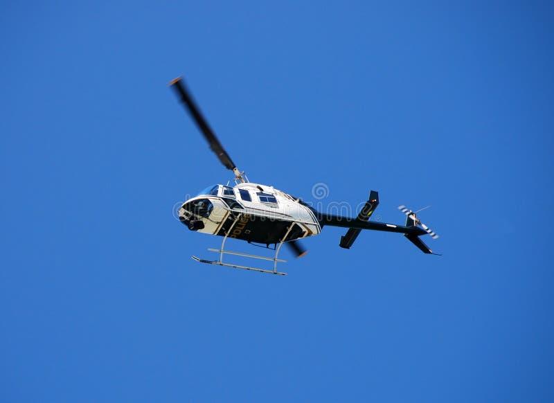 Klok 206 politiehelikopter  royalty-vrije stock afbeeldingen