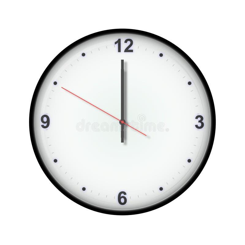 Download Klok stock illustratie. Illustratie bestaande uit punctueel - 286453