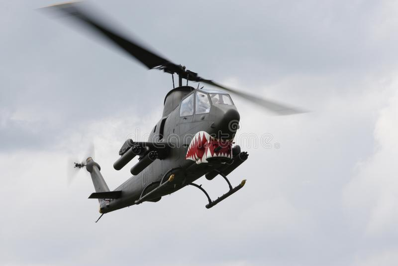 Klok ah-1 de helikopter van de Cobraaanval royalty-vrije stock foto's