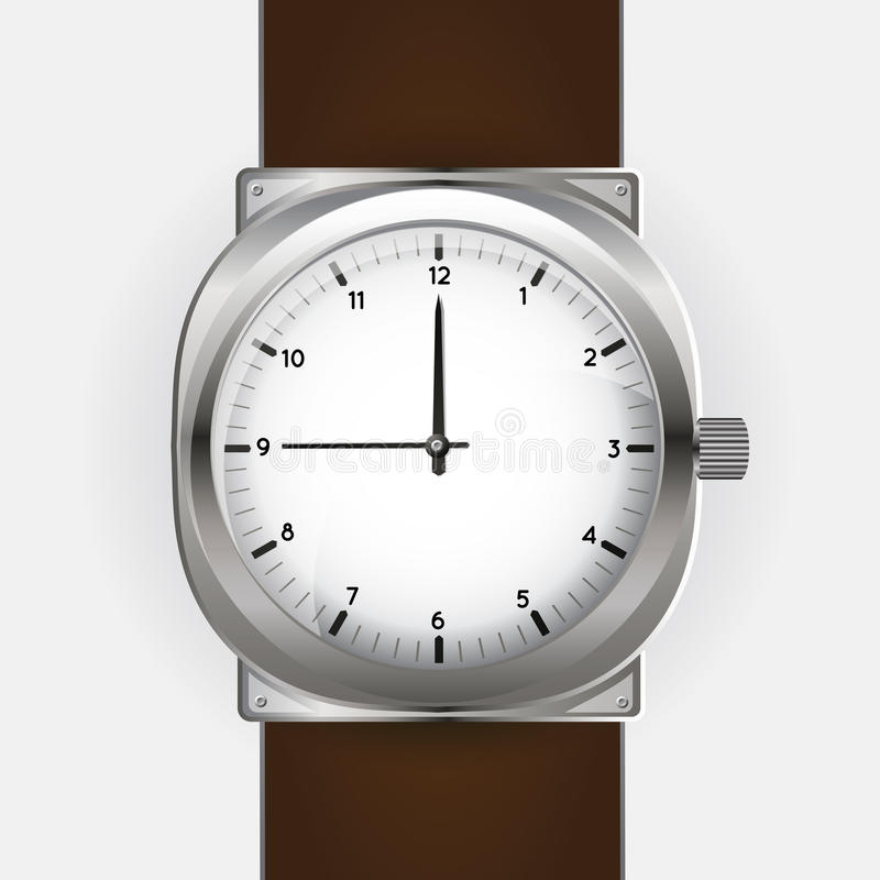Klok - Analoge horloges stock illustratie