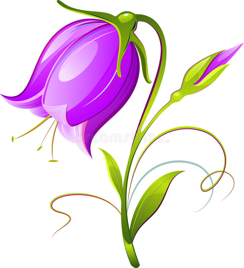 Klok-bloem vector illustratie