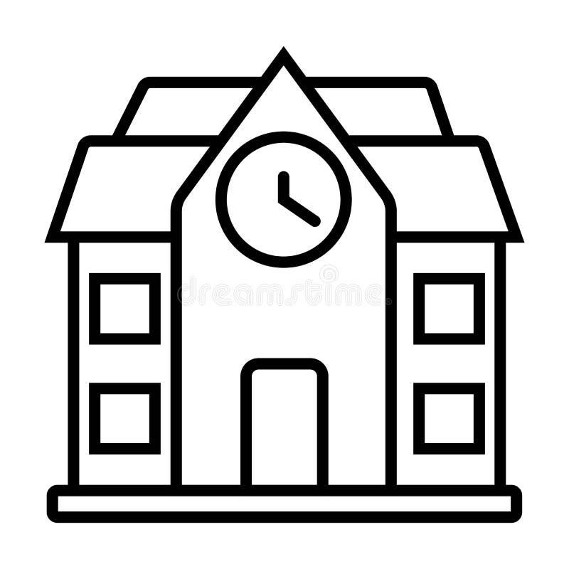 Klok, de bouw, huis stock illustratie