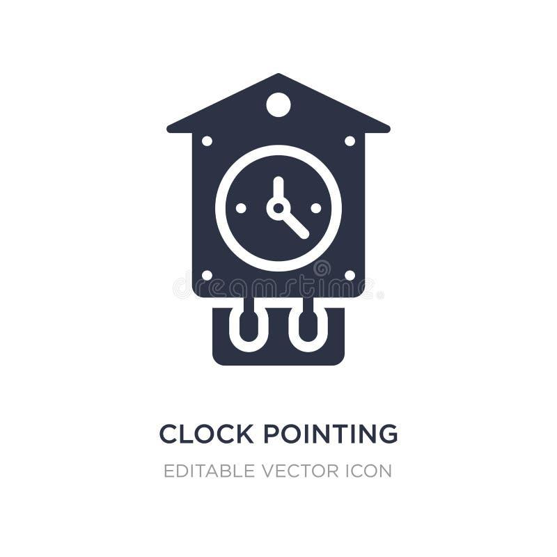 klok die richten de klokpictogram van vier o \ 'op witte achtergrond Eenvoudige elementenillustratie van Ander concept vector illustratie