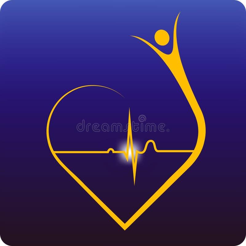 klok hjärta stock illustrationer