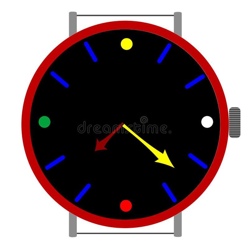 Klok in kleuren royalty-vrije illustratie