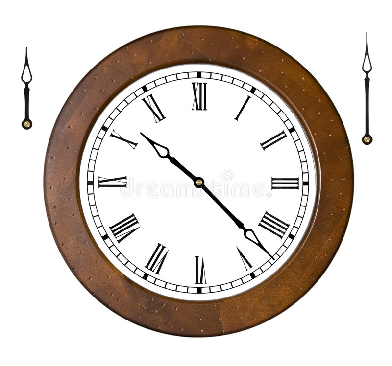 Klok met afzonderlijke handen stock afbeelding afbeelding 2610011 - Klok cm ...