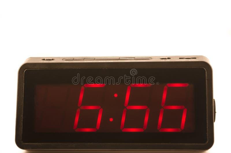 Klok met uur 666 stock afbeelding