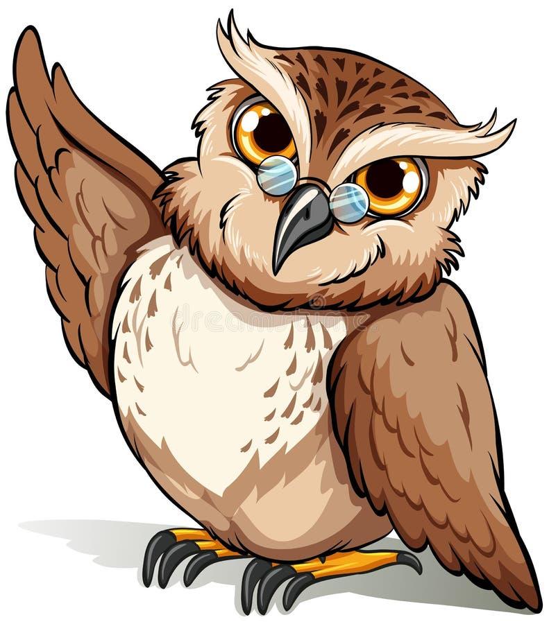klok owl stock illustrationer