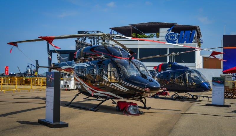 Klok 429 twin-engine helikopter van GlobalRanger royalty-vrije stock fotografie