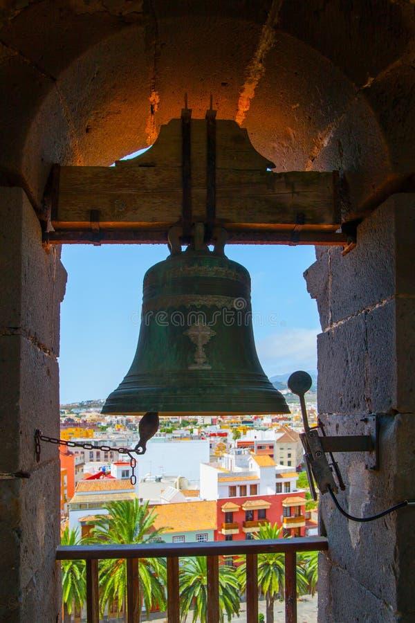 Klok van de kerk van DE La Concepción in La Laguna royalty-vrije stock fotografie