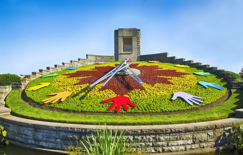 Klokbloem van Niagara Park, Niagara Falls, Ontario, Canada stock fotografie