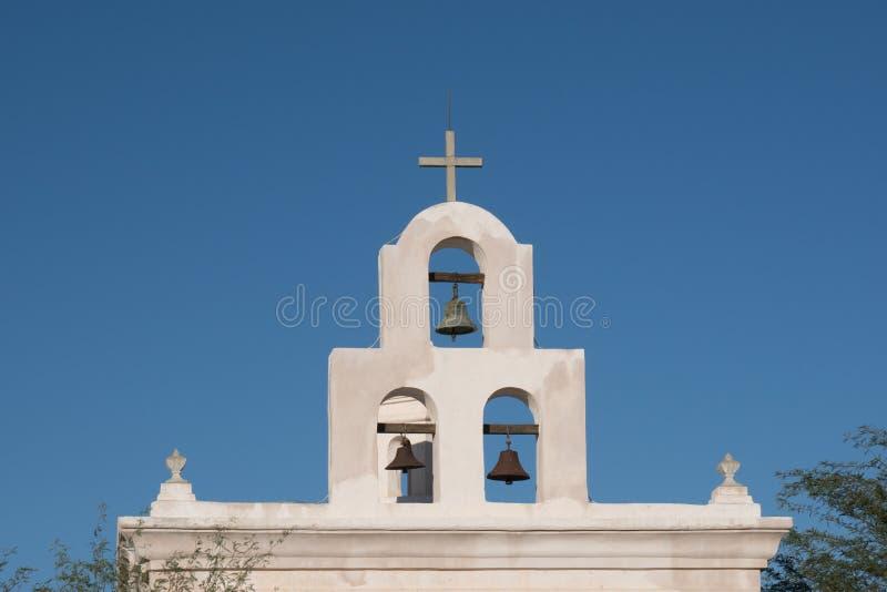 Klokken bij de Opdracht San Xavier del Bac royalty-vrije stock foto's
